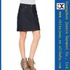 Hot selling Women's Summer Short solid color Jeans Skirts Elastic Slim ladies denim mini skirts (JXW2032)
