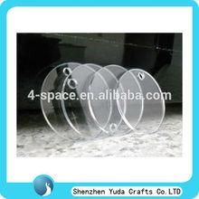 Blank Acrylic Keyring Plexiglass Circles Laser Cut Perspex