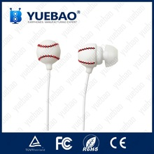 Silicon Rubber Baseball Earphone