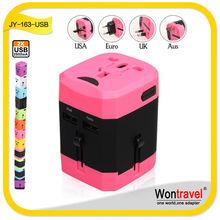 China 1000w 2.0a LED light mini size travel plug adapter