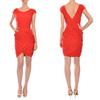 custom service clothing manufacture wrap pleats women elegant red dress