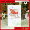 8 diseños mixtosdesignes feliz navidad de papel hecho a mano tarjetas de