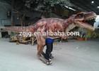 professional manufacturer silicon rubber mechanical dinosaur costume T-rex