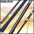 Deland 2 seções de fibra de carbono carpa pesqueiro/oem pesca da carpa enfrentar