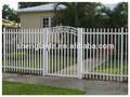 Venta al por mayor baratos filipinas al aire libre de cercas y puertas blanco cerca de la puerta iso9001 fabricante hecha en la fábrica de ch