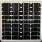 Full certified and high efficiency sun power energy saving 65W solar panel for garden light roof projet