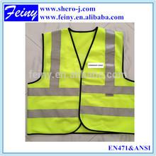 100% Polyester High visibility Custom Logo Safety Vests wholesale