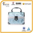light blue butterfly special shape aluminum makeup case, beauty case, cosmetic box