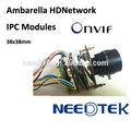 Mp Ambarella HD 1080 P ptz, Onvif, Poe, H.264 cmos de vigilância digital módulo de câmera IP