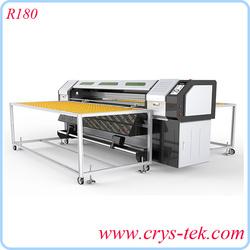 1.8m R180 roll&flatbed UV printer for glass/PVC/leader/board/metal printing