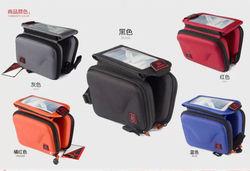 2014 hot sale bike bag with bike front tube bag for mobile phone