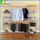 Metal wire Garment Rack clothes hanging system