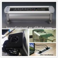 motorized conference desk power socket with sensor and motor