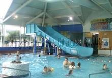 Water slide for family swimming pool