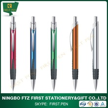 2015 New Rubber Grip Aluminium Jumbo Refill Ball Pen