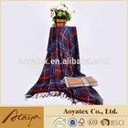 100% Acylic, Stripe Pattern, Fringed Throw/Blanket