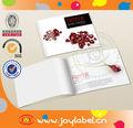 Fantaisie qualité or bijoux catalogue avec custom design