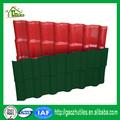 100% ASA rivestito materiali di copertura in plastica resina sintetica tegola verde