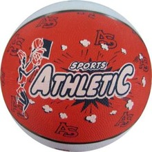 official size colorful rubber basketball