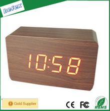 Fashion Clock Alarm Clock,Battery Power Antique Wooden Desk Clock