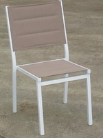 without armrest with foam beach aluminum stacking sling chair