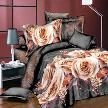 polyester 3D bedding set bed linen duvet comforter cover set