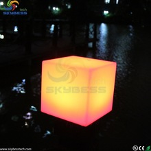 Outdoor modular glow cube furniture