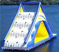 Floating water slides on the sea,sea inflatable water slides floating on the water