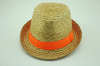 Straw fedora hats to decorate;crazy hats for sale
