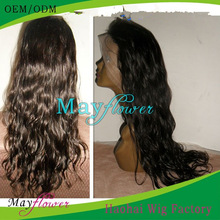 wholesale wigs and hairpieces for men and women dark brown skin cheap bleached knots no shed