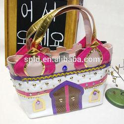 European luxury Rivets contrast color ladies casual vintage atv bag