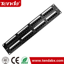 used for network cabinets and telecommunication UTP Cat 5E 24 ports patch panel