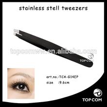 Fashionable colors Slant tip Manicure eyebrow tweezers