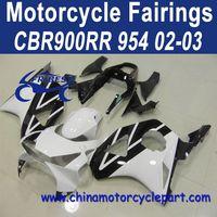 Definitely Durable For Honda CBR900RR 954 02 03 White And Black Motorbike Fairing FFKHD016