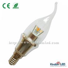 Hot Sale 3w 5630SMD E14/E27/B22 led candle light