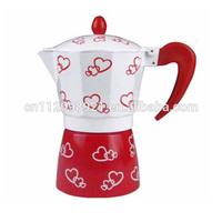 no electrical hight quality new design LFGB espresso aluminum moka coffee maker/coffee pot for stove