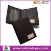 Manufature fodlable PU zipper men wallet leather
