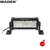 36W LED WORK LIGHT BAR SPOT 4X4 OFFROAD SUV JEEP DRIVING LAMP DOUBLE ROW MD-8201-36