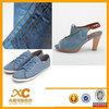 stock 58/60 9oz 100% cotton denim fabric women shoes high heels