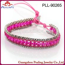 2014 new design hot sell fashion grey leather wrap bracelet