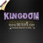 Kingdom cheer letlters glitter hot fix flat back rhinestones