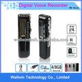 nuevo 4gb 650hr usb pantalla lcd digital de audio grabadora de voz dictáfono reproductor mp3