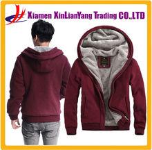 men hoody wholesale custom zip up winter hoodie thick fleece hoodie