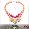 Borgeous Design Beautiful Crystal Double Layer Collar Necklace