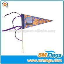 Promtional Custom Felt Triangle Pennant Flags