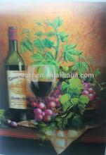 Visual 3D Wine Glass lenticular sticker