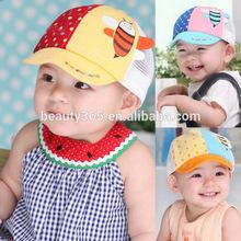 Baby Bee Printed Cap Cute baby baseball cap Sun Visor Cotton Cap