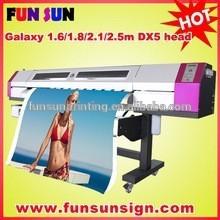 Galaxy UD-181LC eco solvent DX5 printhead inkjet printer (1.8m,good quality)