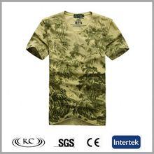 bulk wholesale italy cheap v neck camo fashion printing men's t-shirt