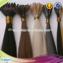 Fast shipping brazilian hair, brazilian pre tipped hair extension